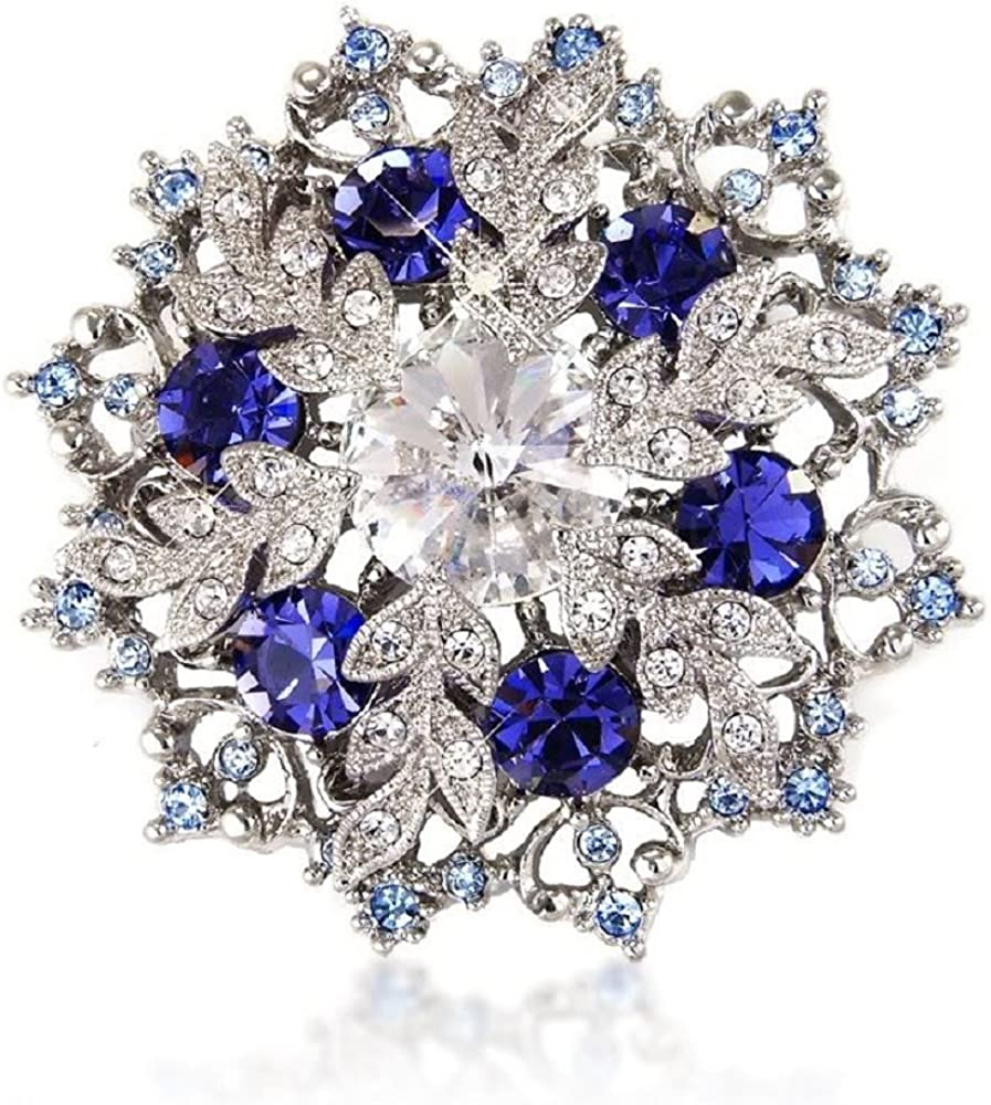 Snowflake Xmas Sapphire-Blue Superior Color Crystal For Pin B Pendant Excellent and