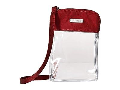 Baggallini Legacy Stadium Bags Clear Bryant Crossbody (Deep Red) Cross Body Handbags