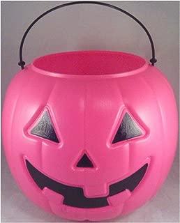 Halloween Pumpkin Jack O Lantern Candy Bucket (Pink)