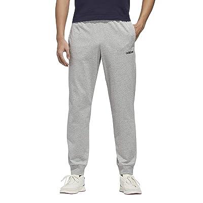 adidas Essential Single Jersey Jogger Pants (Medium Grey Heather/Black) Men