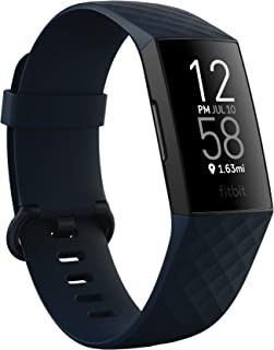 Fitbit Unisex-Adult Charge 4 Fitness Tracker, Storm Blue, One
