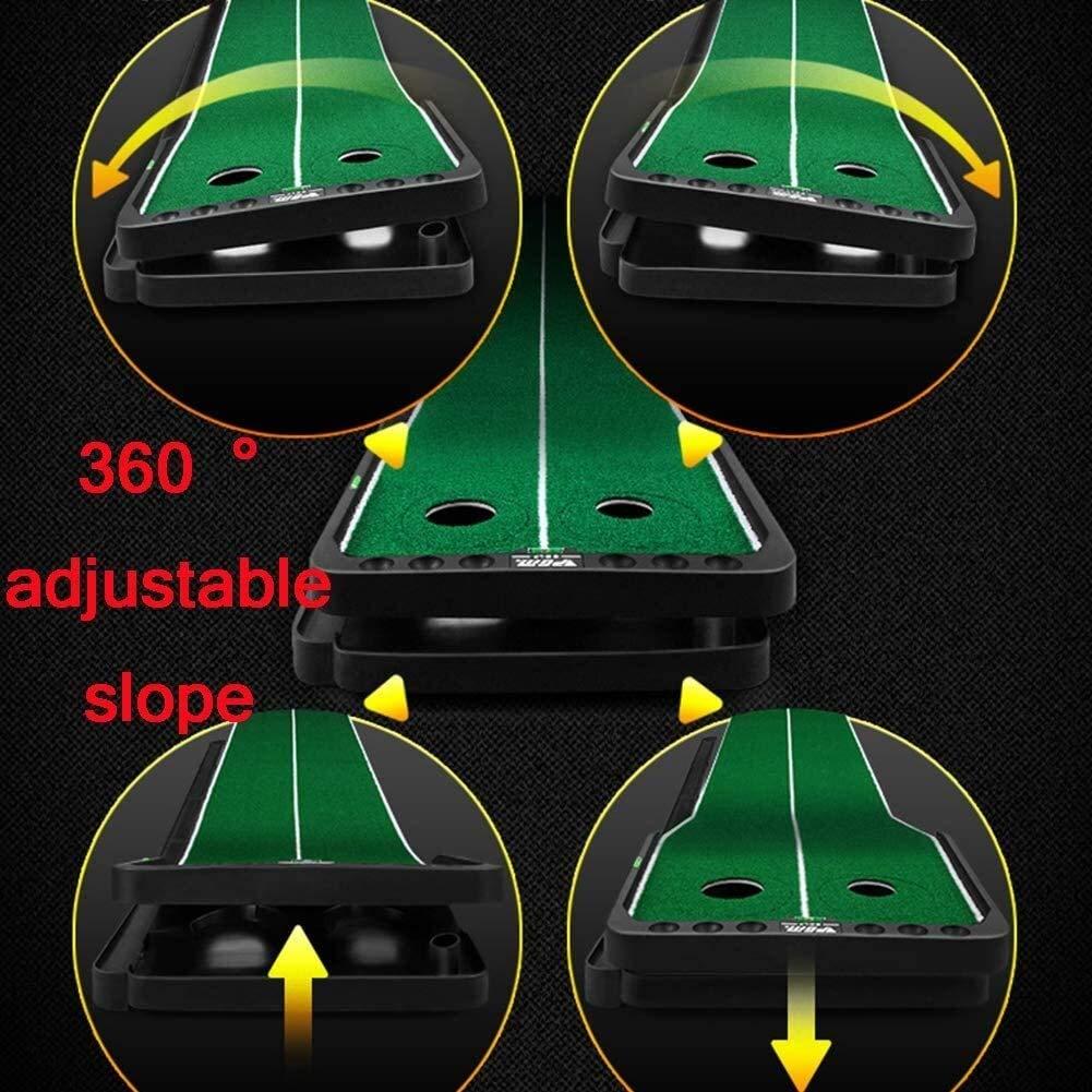LJALJJ Poner Indoor Golf - Mat portátil con función de retorno ...