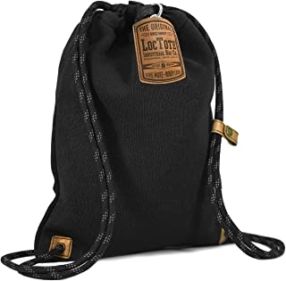 Flak Sack II - The World's Toughest Theft-Resistant Drawstring Backpack (Black)
