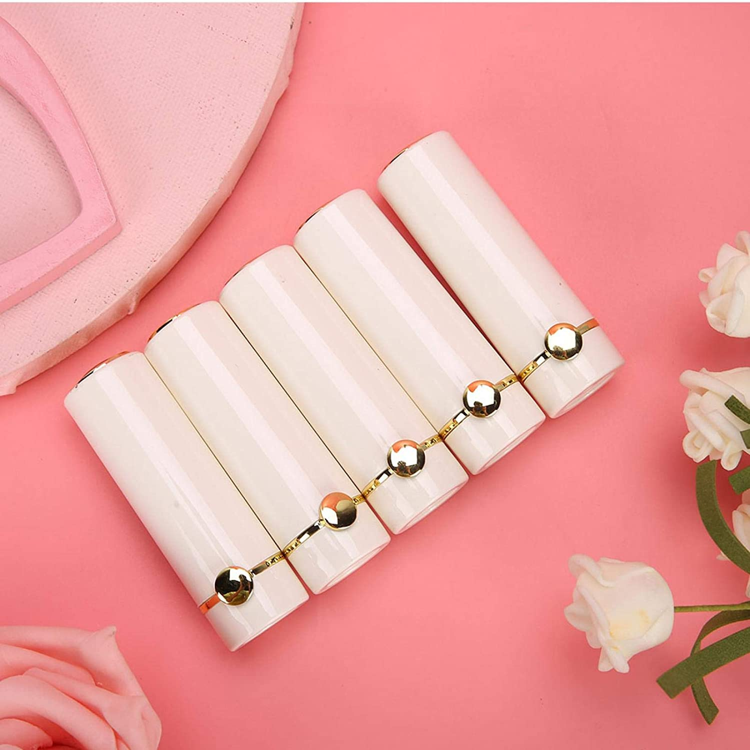 New products, world's highest quality popular! White Cylindrical Lip Balm Tubes Rouge Storage Cosmet Be super welcome Bottle