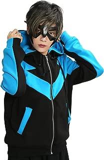 Xcoser Nightwing Hoodie Jacket Sweatshirt Costume for Halloween