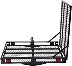 Goplus Wheelchair Carrier Mobility Scooter Loading Ramp Heavy Duty Strong Hitch Cargo, 500 Lbs Capacity (Foldable)