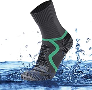 SuMade 100% Waterproof Breathable Socks,  Unisex Outdoor Dry Fit Moisture Wicking Hiking Cycling Skiing Crew Socks