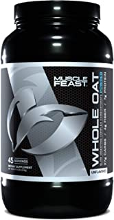 MUSCLE FEAST Whole Oat Powder, Non-GMO, All Natural, Whole Grain, 27g Complex Carbs Per Serving, No Soy, (4 Pounds)