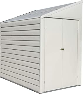 Arrow Shed 4' x 7' Yardsaver Compact Galvanized Steel Storage Shed with Pent Roof