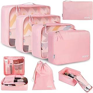 Eono by Amazon - 8 Set Cubos de Embalaje, Organizadores para Maletas, Travel Packing Cubes, Equipaje de Viaje Organizadore...