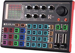 Sound Card, GoolRC SK300 Live Sound Card External Voice Changer Audio Mixer Built-in Rechargeable Battery Multiple Sound E...