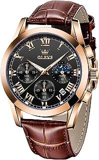 OLEVS Mens Watches Luxury Chronograph Waterproof Luminous Analog Quartz Classic Business Sports Watch Watch for Men