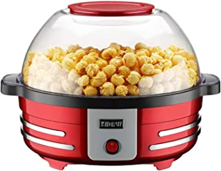 YDXYZ Popcorn Popper maker, Nonstick Plate, Electric Stirring with Quick-Heat Technology, Cool Touch Handles, 2 in 1 Thick...