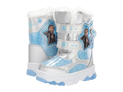 Josmo Kids Frozen Snow Boots (Toddler/Little Kid) (Silver/Blue) Girls Shoes