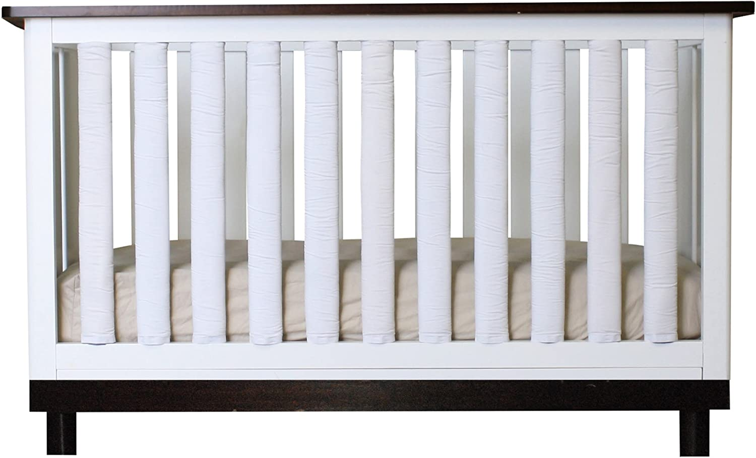 Pure Safety greenical Crib Liners in True White Cotton 24 Pack