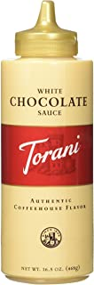 Torani White Chocolate Sauce,16.5 oz Squeeze Bottle (New Packaging)(2Pack)