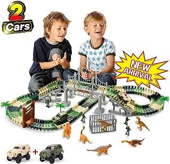 TTouady Christmas Dinosaur Toy Trains Race Car
