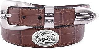 Zeppelin Products Inc. NCAA Florida Gators Crocodile Tip Leather Concho Belt