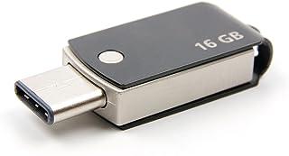 DURAGADGET 16GB USB Type-C フラッシュドライブ (ブラック) vivo NEX A vivo NEX S vivo Xplay 7用