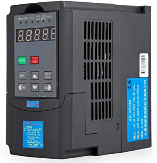 Mophorn VFD Drive VFD Inverter 220V 1.5KW 2HP Frequency Drive Inverter Professional Variable Frequency Drive VFD for Spindle Motor Speed Control (1.5KW VFD)