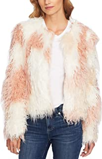 CeCe Women's Two-Tone Shaggy Faux-Fur Jacket