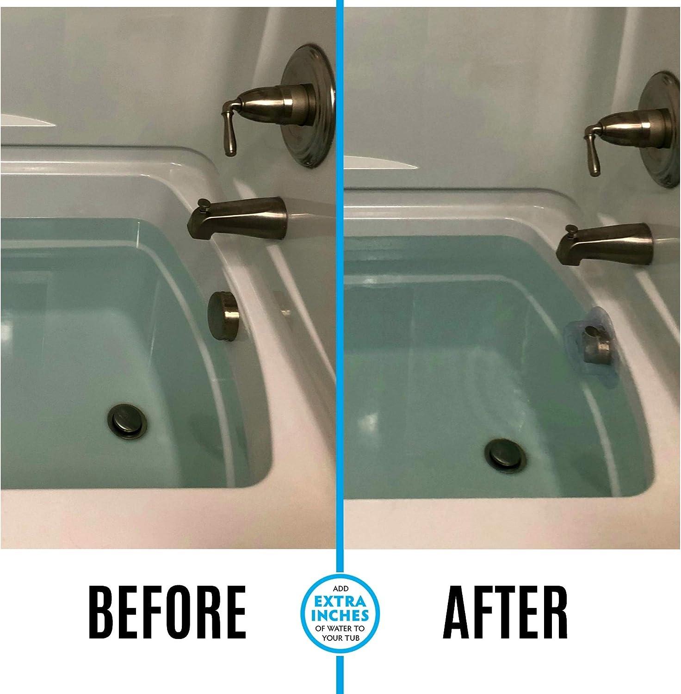 SlipX Solutions Bottomless Bath Überlaufabflussabdeckung Fügt ...