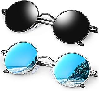 KANASTAL Polarized Round Sunglasses for Men Women Retro Circle Hippie Style UV400 Sun Glasses Outdoor Shades