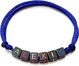 Bracciale bigiotteria con nome, testo, messaggio; regalo personalizzato per adulti e bambini; creazione personalizzata; le...