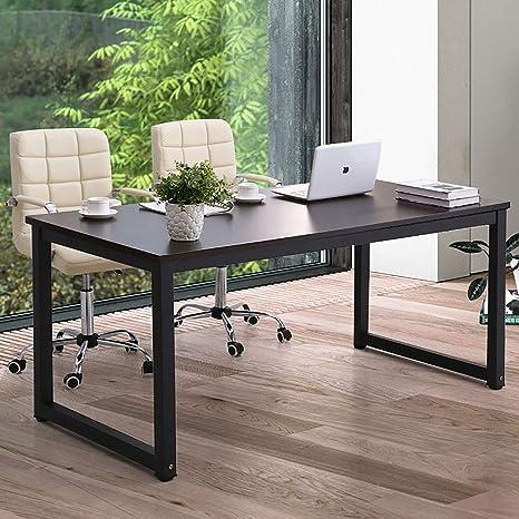 "Amazon.com: Modern Computer Desk 63"" Large Office Desk Writing"