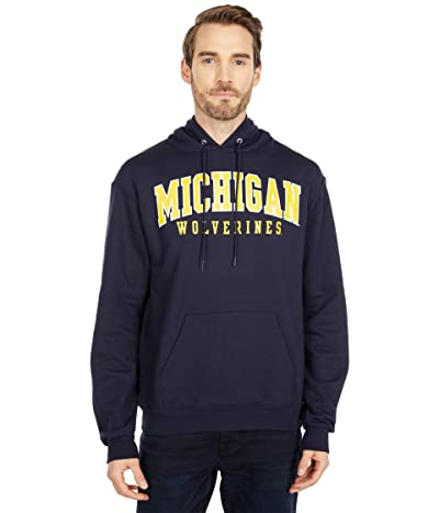 Champion College Michigan Wolverines Eco(r) Powerblend(r) Hoodie (Navy 3) Men