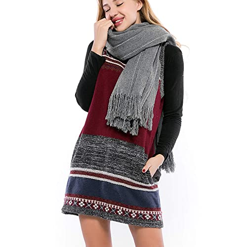 d4158a6843b4 Incolacolle Women s Sweater Dress with Pockets Tank Sweater Knit Casual  Pullover Dresses Sleeveless