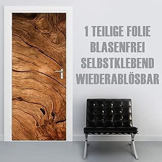 XXL-Tapeten Türtapete selbstklebend TürPoster Wood CloseUp im Format 90x210cm - Türfolie Klebefolie von Trendwände