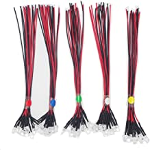 Haobase 50pcs Mixed Colour 5mm LEDs Pre Wired Light 12V 20cm Bulb