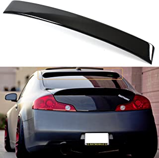 Cuztom Tuning Fits for 2003-2007 Infiniti G35 2 Door Coupe JDM VIP Glossy Black Rear Window Roof Spoiler Wing