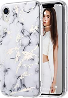ULAK iPhone XR Case, White Marble Pattern Design with Shockproof Clear Bumper Slim Fit Anti-Scratch Protective Phone Case for Apple iPhone XR 6.1 inch