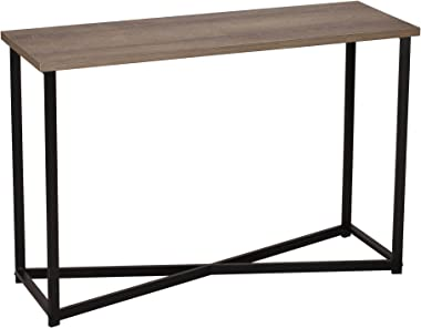 Household Essentials Ashwood Sofa Table | Console Table for Entryway | Gray-Brown