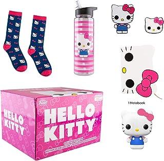 Funko Hello Kitty Caja de coleccionistas de 45 cumpleaños con Pop. Figura de vinilo y cuaderno, parche, pin, calcetines y botella de agua