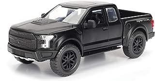 Jada 97756 2017 Ford F-150 Raptor Pickup Truck Matt Black 1/24 Diecast Model Car