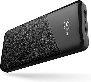 モバイルバッテリー 25000mAh 大容量 【PSE認証済】急速充電 2USB出力ポート LCD残量表示 iPhone/iPad/Android機種対応(ブラック)