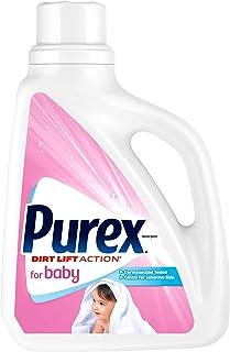 Purex Detergente para ropa líquido para bebé, 75 onzas fluidas, 57 cargas
