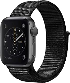 Bincoch Compatible for Apple Watch Band 38mm 40mm,with Easy-to-Adjust Hook and Loop Fastener,Soft Breathable Woven Nylon Replacement Band for iWatch Series 4/Series 5.