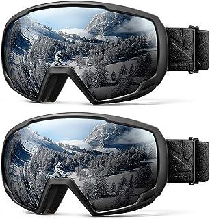 8060b8b1576 OutdoorMaster Kids Ski Goggles - Helmet Compatible Snow Goggles Boys    Girls 100% UV Protection