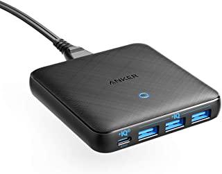 Anker PowerPort Atom III Slim (Four Ports)(PD 充電器 65W 4ポート USB-C)【PowerIQ3.0搭載 / PD対応/GaN(窒素ガリウム)採用】 iPhone iPad iPod 各種、 ...
