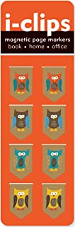 Owls i-Clip Magnetic Page Markers (Set of 8 Magnetic Bookmarks)