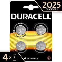 Duracell 2025 - Pila de botón de litio 3V, diseñada para dispositivos electrónicos,  4 unidades, cr 2025
