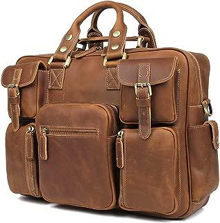 vintage cowhide briefcase