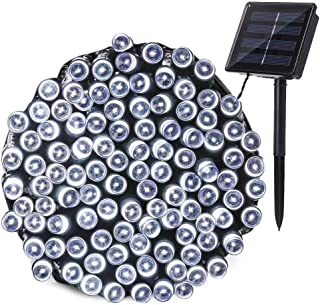 Joomer Solar Christmas Lights, 72ft 200 LED 8 Modes Solar String Lights, Waterproof Solar Fairy Lights for Garden, Patio, Home, Wedding, Party, Christmas Decorations (White)