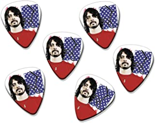 Dave Grohl Nirvana Foo Fighters 6 X Loose Guitarra Picks ( Flag Design )