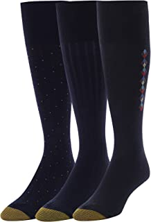 Men's Over the Over the Calf Dress Socks, 3 Pairs