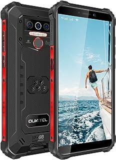 OUKITEL WP5-4G IP68 teléfono Rugged Móvil, Telefonos Robusto Batería de 8000mAh, 5.5'' HD+ (Gorilla Glass), 4GB + 32GB 13MP+2MP+2MP Smartphone, Android 9.0, Triple Cámara(Negro)